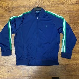 Polo by Ralph Lauren navy track jacket w/ stripes